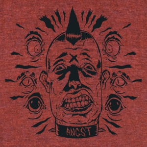 Angst - Unisex Tri-Blend T-Shirt by American Apparel