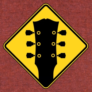 guitar zone - Unisex Tri-Blend T-Shirt by American Apparel