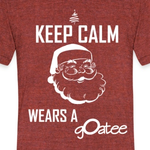 santasgoatee - Unisex Tri-Blend T-Shirt by American Apparel