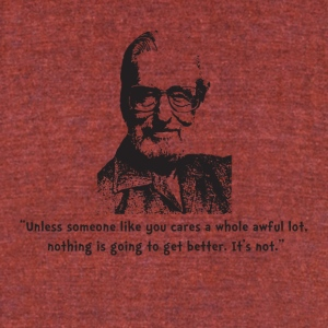 Seuss quote - Unisex Tri-Blend T-Shirt by American Apparel