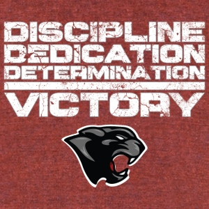 Discipline, Dedication, Determination...Victory - Unisex Tri-Blend T-Shirt by American Apparel