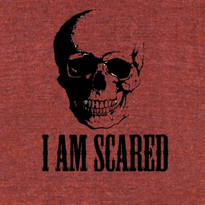 I AM SCARED - Unisex Tri-Blend T-Shirt by American Apparel
