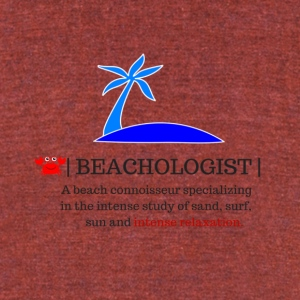 beachologist - Unisex Tri-Blend T-Shirt by American Apparel