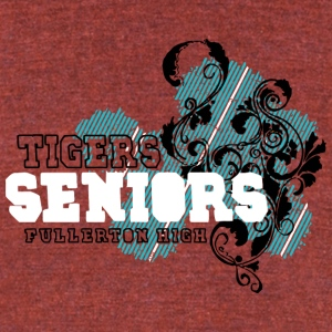 TIGERS SENIORS FULLERTON HIGH - Unisex Tri-Blend T-Shirt by American Apparel
