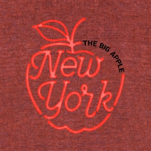 The Big Apple New York - Unisex Tri-Blend T-Shirt by American Apparel