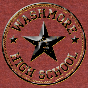 WASHMORE HIGH SCHOOL - Unisex Tri-Blend T-Shirt by American Apparel