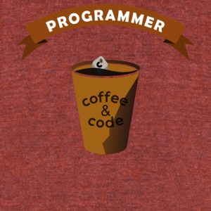 Programmers Gift- Coffee&Code- Shirt, Hoodie,Tank - Unisex Tri-Blend T-Shirt by American Apparel