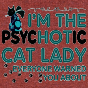 I M THE PSYCHOTIC CAT LADY - Unisex Tri-Blend T-Shirt by American Apparel