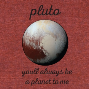 pluto - Unisex Tri-Blend T-Shirt by American Apparel