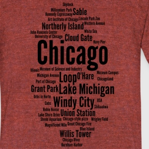 Chicago (Windy City; Illinois, USA) - Unisex Tri-Blend T-Shirt by American Apparel
