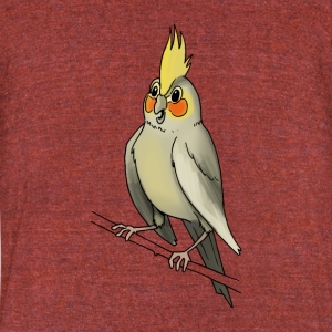 parakeet finch budgerigar budgie parot dove bird - Unisex Tri-Blend T-Shirt by American Apparel