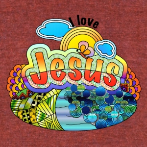 I Love Jesus - Unisex Tri-Blend T-Shirt by American Apparel