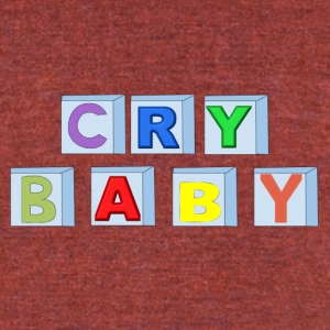 Cry Baby Blocks - Unisex Tri-Blend T-Shirt by American Apparel
