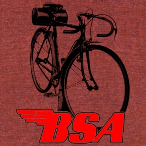 BSA red / black - Unisex Tri-Blend T-Shirt by American Apparel