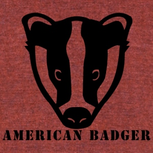 American Badger - Unisex Tri-Blend T-Shirt by American Apparel