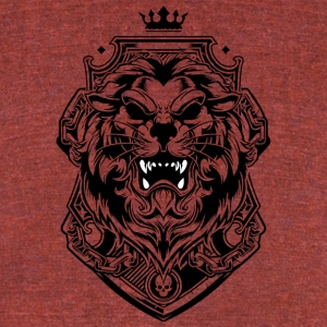Lion king of beasts tattoo shape king crown - Unisex Tri-Blend T-Shirt by American Apparel