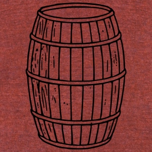 Wooden Barrel - Unisex Tri-Blend T-Shirt by American Apparel