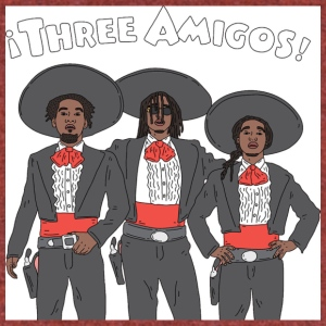 3 Amigos - Unisex Tri-Blend T-Shirt by American Apparel