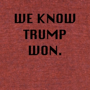 WEKNOWTRUMPWON - Unisex Tri-Blend T-Shirt by American Apparel