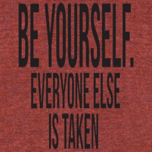 beyourself - Unisex Tri-Blend T-Shirt by American Apparel