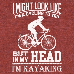 I am Kayaking - Unisex Tri-Blend T-Shirt by American Apparel