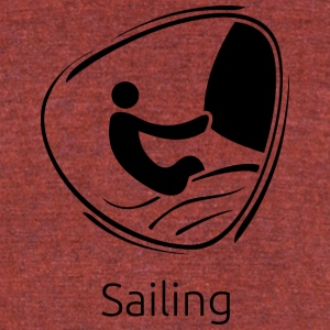 Sailing_black - Unisex Tri-Blend T-Shirt by American Apparel