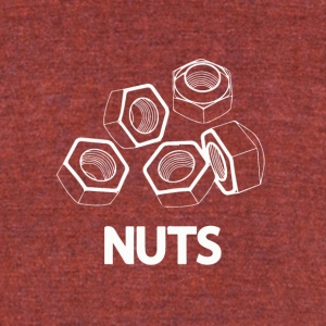 Nuts - Unisex Tri-Blend T-Shirt by American Apparel
