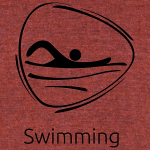 Swimming_black - Unisex Tri-Blend T-Shirt by American Apparel