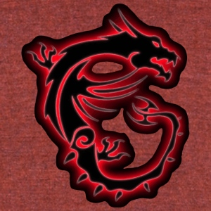 Dragon - Unisex Tri-Blend T-Shirt by American Apparel
