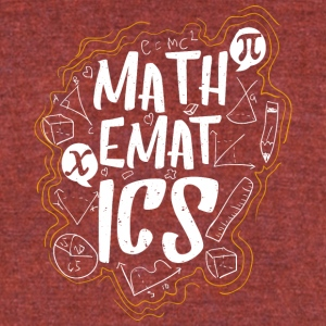 Mathematics inscription exact science - Unisex Tri-Blend T-Shirt by American Apparel