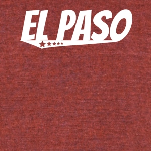 El Paso Retro Comic Book Style Logo - Unisex Tri-Blend T-Shirt by American Apparel
