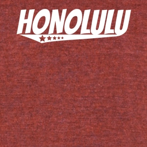Honolulu Retro Comic Book Style Logo - Unisex Tri-Blend T-Shirt by American Apparel