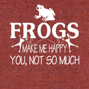 FROGS MAKE ME HAPPY TEE SHIRT - Unisex Tri-Blend T-Shirt by American Apparel