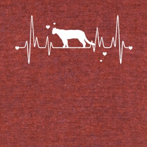 Cougar Heart Shirt - Unisex Tri-Blend T-Shirt by American Apparel