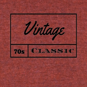 Vintage 1970s Classic - Unisex Tri-Blend T-Shirt by American Apparel