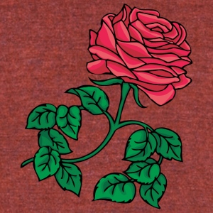 big_red_rose - Unisex Tri-Blend T-Shirt by American Apparel