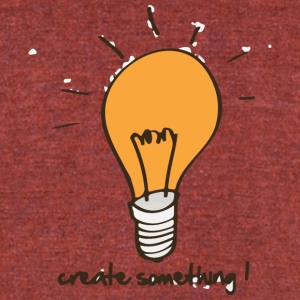 Create something - Unisex Tri-Blend T-Shirt by American Apparel