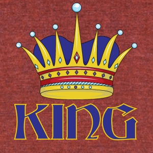 blue gold king - Unisex Tri-Blend T-Shirt by American Apparel