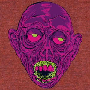 Graveyard Ghoul Ghastly Grape - Unisex Tri-Blend T-Shirt by American Apparel