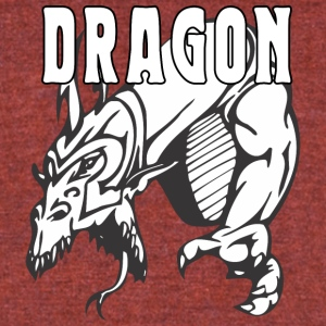 dragon_attacking - Unisex Tri-Blend T-Shirt by American Apparel