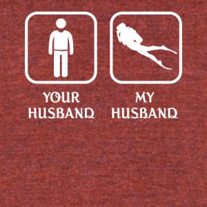 Husband Diving Love- cool shirt,geek hoodie,tank - Unisex Tri-Blend T-Shirt by American Apparel