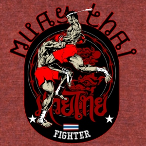 Muay Thai Fighter - Unisex Tri-Blend T-Shirt by American Apparel