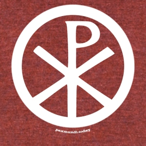 The Universal Peace Symbol - Unisex Tri-Blend T-Shirt by American Apparel