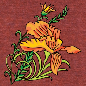 orange_flowers - Unisex Tri-Blend T-Shirt by American Apparel