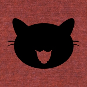 Black cat - Unisex Tri-Blend T-Shirt by American Apparel