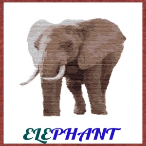 ELEPHANT - Unisex Tri-Blend T-Shirt by American Apparel