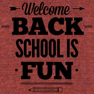 schools_is_fun - Unisex Tri-Blend T-Shirt by American Apparel