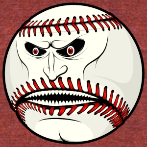 angry_baseball_ball - Unisex Tri-Blend T-Shirt by American Apparel