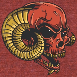 red_demon_skull - Unisex Tri-Blend T-Shirt by American Apparel