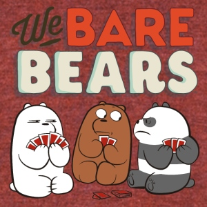 We Bare Bears Game Cards - Unisex Tri-Blend T-Shirt by American Apparel
